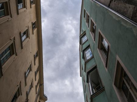The old buildings in city Innsbruck, Austria .