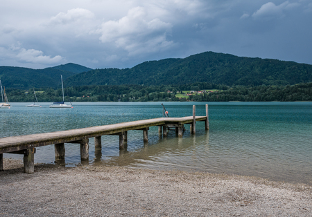 The mountain lake Tegernsee in Bavaria, Germany . Banque d'images