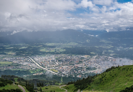 The city Innsbruck of birds-eye view , Austria .