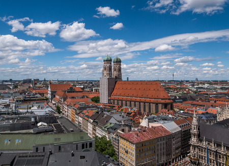The city Munich of birds-eye,  Germany  Bavaria . Banque d'images