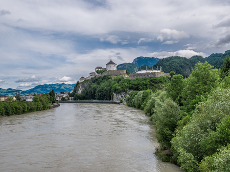The city Kufstein in Tyrol on river Inn, Austria . Banque d'images