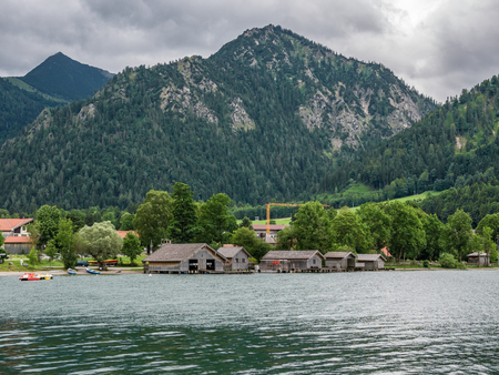 The mountain lake Schliersee in Bavaria, Germany .