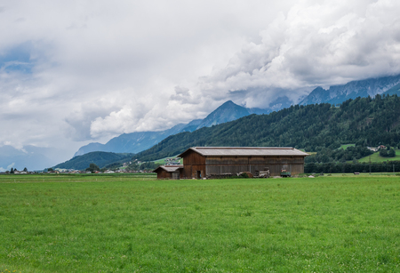 The landscape of mountain in Tyrol, Austria  .