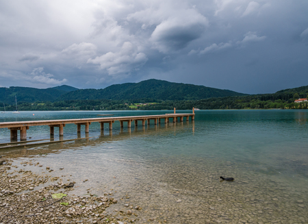 The mountain lake Tegernsee in Bavaria, Germany . Stock Photo