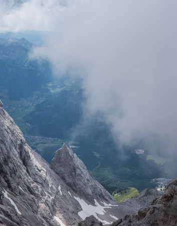 The mountains of Alps in Tyrol, Austria .