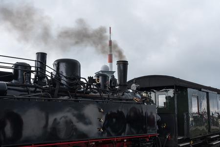 Die alte Lokomotive in Harz, Deutschland. Standard-Bild - 88982348