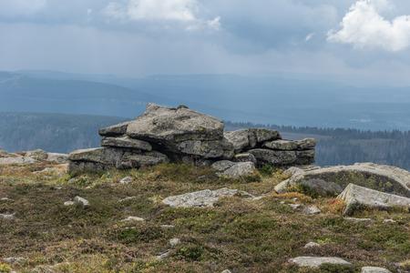 brocken: The landscape of mountain in Harz, Germany .