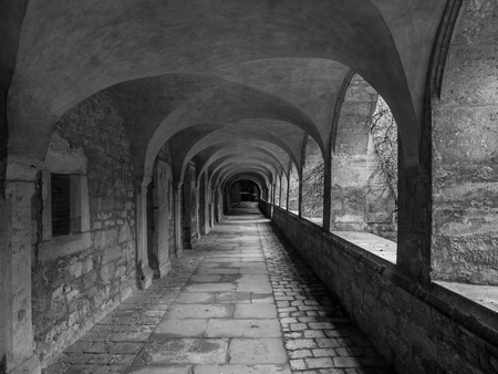 Corridor in cathedral of the city Hildesheim, Germany .