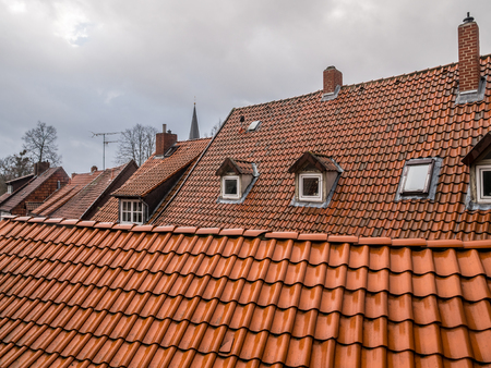 The architecture of city Hildesheim, Germany .