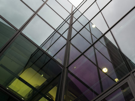 The glass architecture in city against a sky . Reklamní fotografie