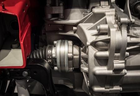 Engine with radiator of a modern car .