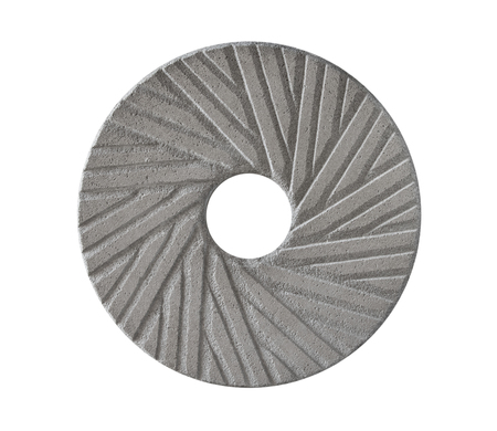 The old millstone on white background, isolated .