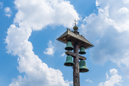 The bell of Russian Orthodox Church in Gifhorn, Germany .
