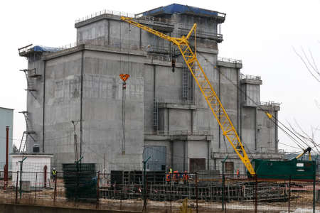 Construction of Liquid Radioactive Waste Treatment Plant at the Chernobyl nuclear power plant in Ukraine.