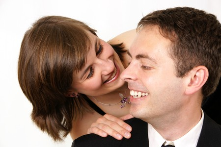 two people loughing Stock Photo