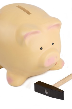 loot: Pig without patch Stock Photo