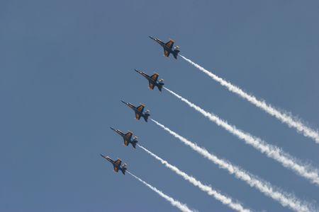 jets in the sky Stock Photo