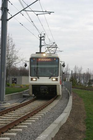 ライトレールの通勤電車 写真素材
