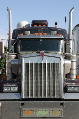 BIg Rig Truck Head On Stock Photo