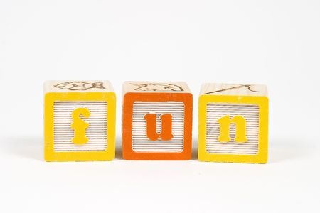 fun in childs block letters