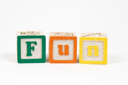 Fun spelled in blocks