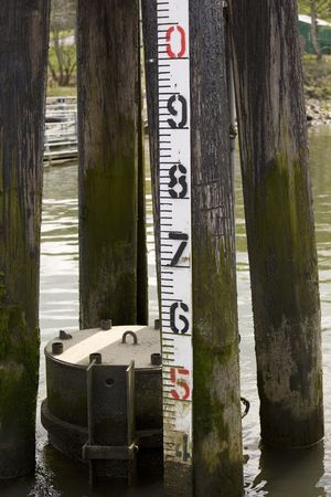 river level water guage photo