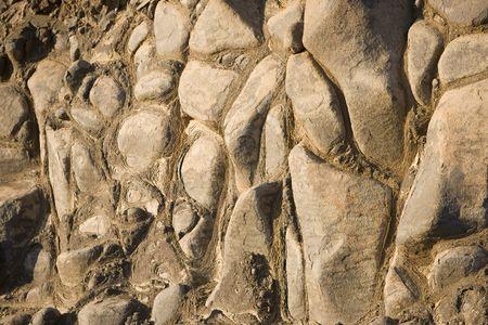 Natural rock formation on a hillside