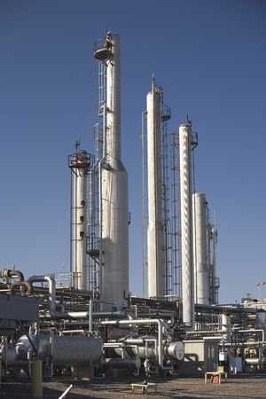 Natural gas processing plant on a pipeline photo