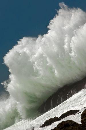 gale: ocean breaking waves on atlantic sealine