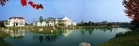 ''wide angle'': Villa landscape in wide angle
