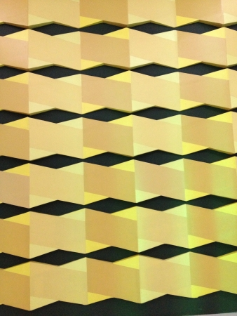 basic shapes: A yellow and black pattern with basic shapes.