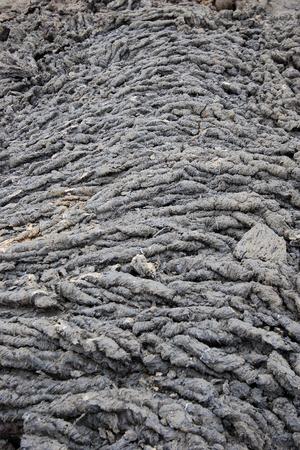 Pahoehoe lava, Punta Moreno, Isabela, 갈라파고스 제도, 에콰도르 스톡 콘텐츠