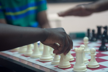 Playing Chess in park