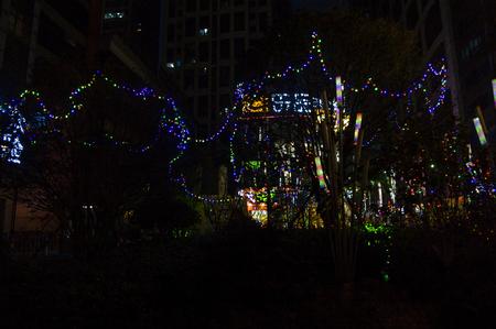 days off: Christmas light effect scene