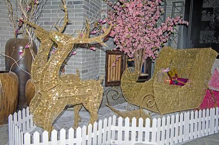 days off: Christmas decoration scene