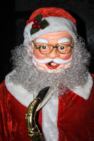 days off: santa claus statue Stock Photo