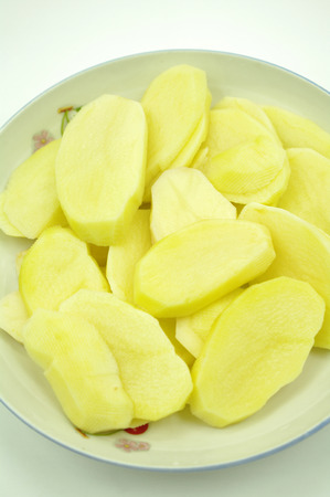 chafing dish: Potato slices