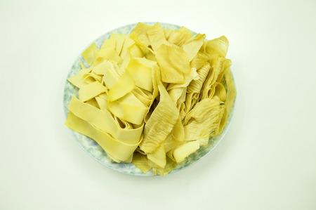chafing dish: Dried beancurd Stock Photo