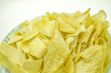 beancurd: Dried beancurd Stock Photo