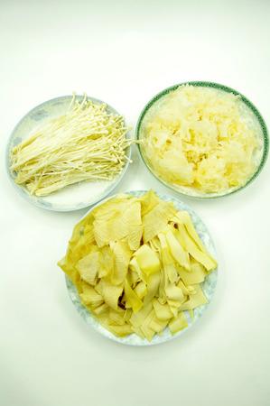 beancurd: Mushroom and tofu skin and Tremella