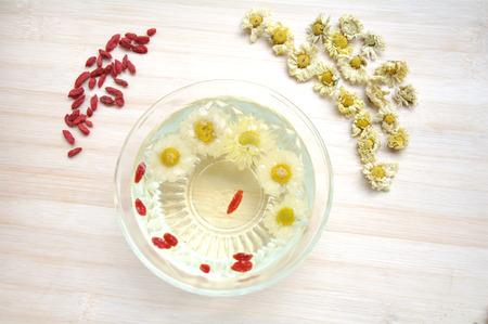 Chinese wolfberry and chrysanthemum tea