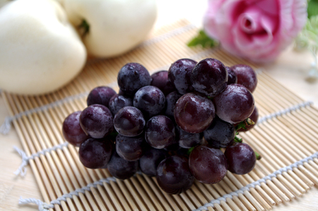 Grape and ginseng fruit Stock Photo