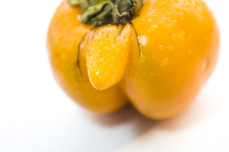 dried gourd: Persimmon Stock Photo