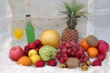 A variety of fruits Stock Photo