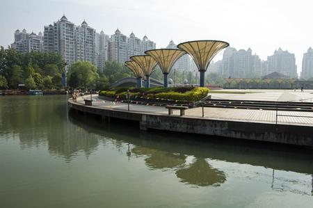 city living: Anhui province Hefei City Living environment Stock Photo