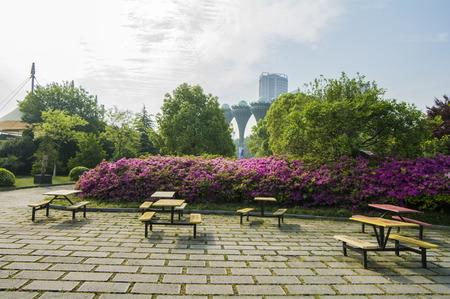 Anhui city of Hefei province Chuzhou Pavilion emblem park scenery