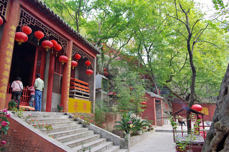 Anhui city of Suzhou province huangcangyu national Forest Park Tianmen Temple Editorial