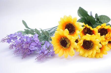 Artificial sunflower and lavender
