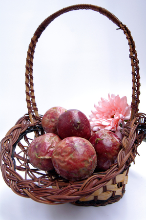 passion fruit flower: Passion fruit Stock Photo