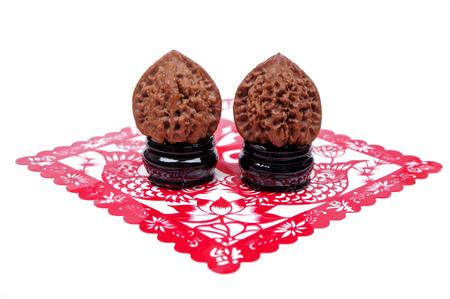 Close up view of two walnuts Reklamní fotografie